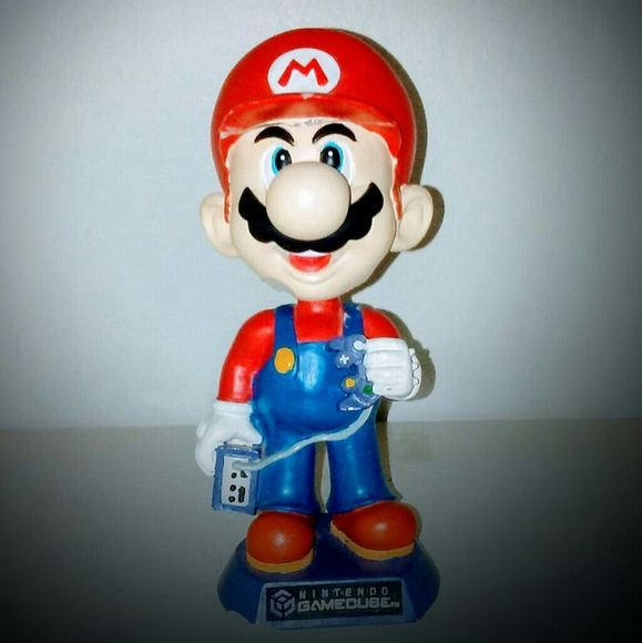 Super Mario Bobble Head Phone Holder Action Figure Car Gift